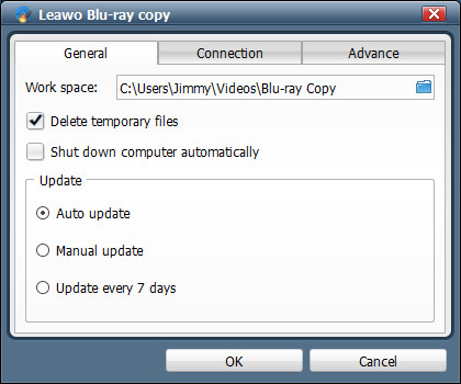 Blu-ray Copy Settings