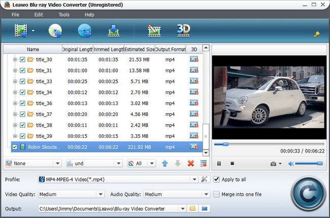 Blu-ray Video Converter Import