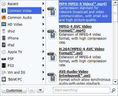 Blu-ray Video Converter Profile